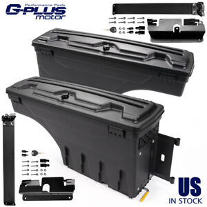 For 2007 2018 Chevy Silverado Gmc Sierra Rear Set Of 2 Truck Bed Storage Box