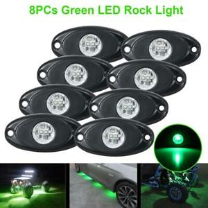 8x Green Led Rock Light 4pods Lights For Jeep Off Road Truck Car Atv Under Body