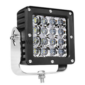 6inch Cree Led Driving Lights Hyper Spot Square Headlight Pods Off Road Pickup