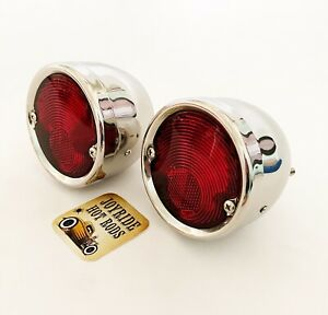 1955 59 Chevy Truck Tail Lights Polished S S Hot Rod Custom 1 Pair