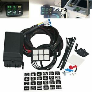 6 Gang Switch Panel 40a Electri Relay Control Car Truck Boat Offroad Led Lights