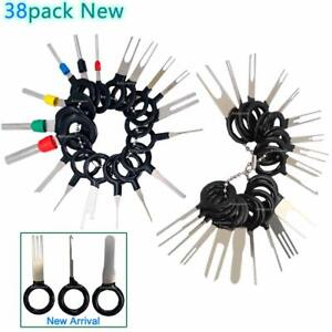 38pcs Car Terminal Removal Tool Kit Wire Connector Pin Release Extractor Puller