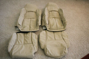 1994 1996 C4 Corvette Replacement Leather Light Beige Seat Covers