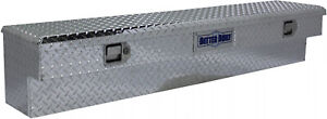 72 Inch Crown Series Side Mount Truck Tool Box Aluminum Rust resistant Silver