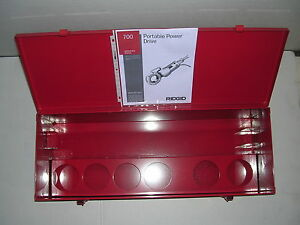Metal Case Manual Ridgid 700 Power Pony Pipe Threader Six 12r Die Heads 1 2 2