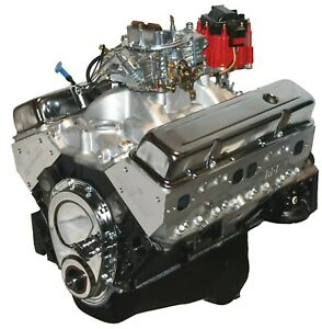 383 Stroker Crate Engine Dressed Longblock With Carb Alum Heads Roller Cam
