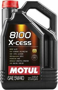 Motul 8100 X cess 5w40 Synthetic Gasoline And Diesel Engine Oil 007250 5 Liter