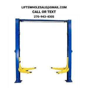 New Triumph 10 000 Lbs 2 Post Auto Lift Overhead W 3 Stage Asymmetric Arms
