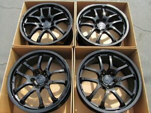 Set Of 4 Infiniti G35 Oem 19 Rays Forged Gloss Black Staggered Wheels Rims