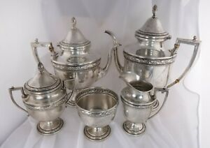 Frank Whiting Company 708 Sterling Silver Tea Coffee Set 5 Piece 2264g