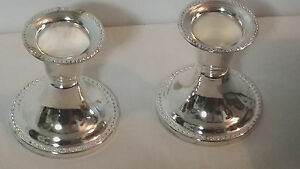 Candle Holder Silver Plated Essex 2 1 2 Tall