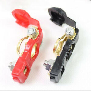 2 Us Auto Car Battery Terminal Clamp Clip Connector Adjustable Positive nagative