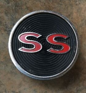 Original Gm 1964 Impala Super Sport Center Console Emblem Ss
