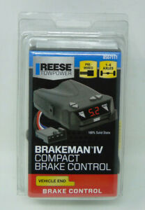 Reese Towpower Brakeman Iv Compact Brake Control fits 2 4 6 8 Break Systems