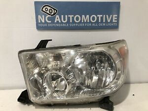 2007 2013 Toyota Tundra Sequoia Headlight Driver Left Lh Halogen Oem A64