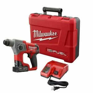 Milwaukee 2416 21xc 5 8 M12 Fuel Sds Plus Rotary Hammer Kit Brand New Free Ship