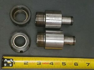 2pc Komet Abs 40 Er25 Collet Holder W Rego fix Nut Gm 25 Machinist Tool