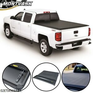 Tonneau Cover Soft Fourfold For Chevy Gm Sierra Silverado Pickup Truck 6 6ft Bed