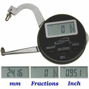 Igaging Digital Electronic Thickness Gage 0 1 quot 25mm Micrometer Caliper Home