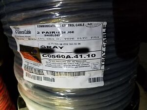 General Cable carol C0560a 18 2p Shielded Twist Pair Pltc Tray Cable 105c 50ft