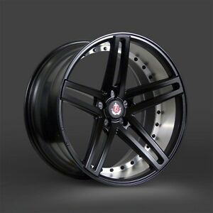 20x8 5 Lenso Axe Ex20 Semigloss Black Mirror Lip 2 Piece Concave Wheel 20