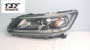 Oem 2013 2015 Honda Accord Sedan Left Driver Side Halogen Headlight