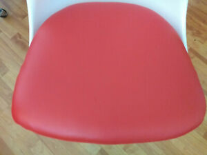 Knoll Saarinen Tulip Armchair Seat Cushion Red Mint Condition No Tags