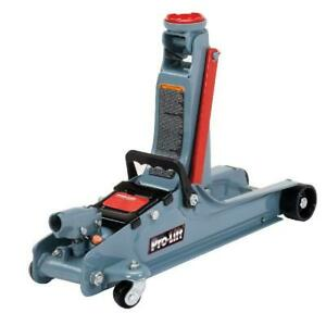 Pro Lift F 767 Grey Low Profile Floor Jack 2 Ton Capacity Range Of 3 1 2 To 14