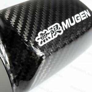 Real Carbon Fiber Mirror Cover For Accord Euro Civic Crv Fit Odyssey Jdm Mugen