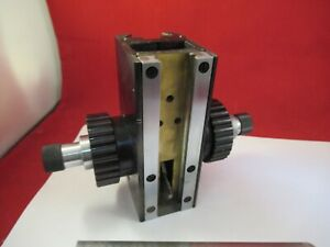 Zeiss Polmi Germany Stage Micrometer Brass Microscope Part As Pictured