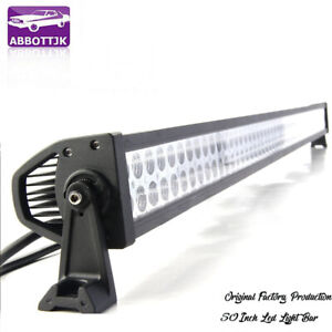 50inch Led Light Bar Flood Spot Roof Driving Truck Boat Suv 4wd 52