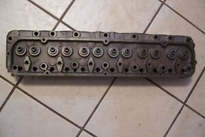 Good Core 1963 1964 Ford 223 C i Cylinder Head C3ae 6090 a 4 New Seats Surfaced