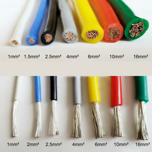 Flexible Silicone Wire Rc Cable Soft Resistant High Temperature 1 5square Meter