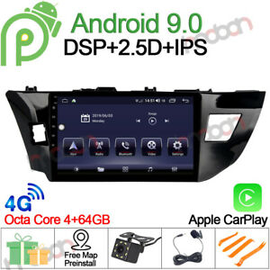 10 1 Ips Android 9 0 Car Stereo Gps Navigation For Toyota Corolla 2012 14 Radio