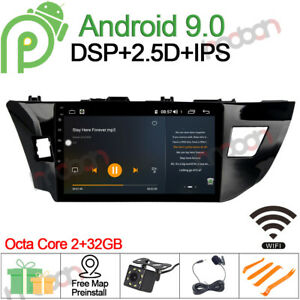 10 1 Android 9 0 Car Stereo Gps Navigation For Toyota Corolla 2012 14 Radio Dsp