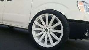 24 Inch Velocity V12 White Wheels Rims Tires Fit 6 X 5 5 Escalade Denali Tahoe