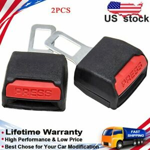 2x Universal Car Seat Safety Belt Buckle Extender Extension Clip Alarm Stopper