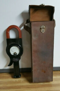 Vintage Weston Model 633 Amperes A c clamp On Amp Meter With Leather Case