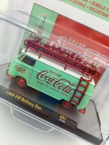 1960 VW DELIVERY VAN COCA COLA COKE 2019 M2 MACHINES RED CHASE 1/750 A01 19-02