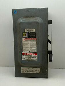 Square D D323n 100 amp 240 volt 3 pole Fusible Indoor General Duty Safety Switch