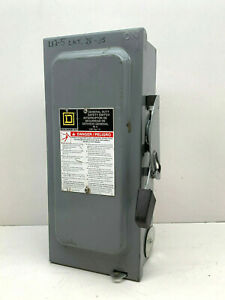 Square D D222n 60 amp General Duty Fusible Safety Switch 60a 240v
