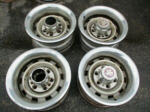 Chevy Truck K5 Blazer 15 X 7 Steel Rally Wheel Rims Set Of 4 Oem