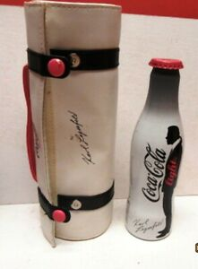 RARE 2010 COCA-COLA LIGHT BOTTLE - KARL LAGERFELD W/POUCH - EMPTY-VERY NICE