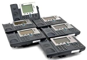 Lot Of 6 Cisco Systems 7940 Series Office business Programmable Ip Phone System