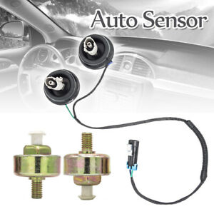 Car Dual Knock Sensor Harness Pair Kit For Chevy Gmc Silverado Cadillac V8 5 3l
