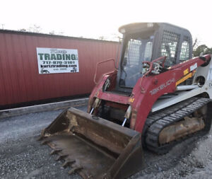 2015 Takeuchi Tl12 Compact Track Skid Steer Loader Cab 2spd High Flow 3200hrs