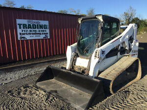 2015 Bobcat T650 Compact Track Skid Steer Loader Cab 2spd High Flow 1600 Hours
