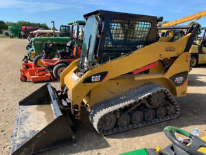 2012 Caterpillar 257b3 Compact Track Skid Steer Loader W Cab 2 Spd New Tracks