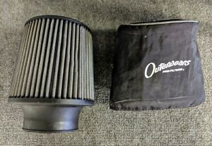 K N Cold Air Filter Intake 3 5 Intake With Outer Wear Pre Filter
