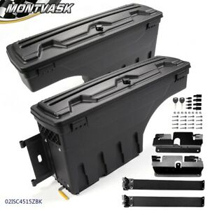 Rear Left Right Truck Bed Storage Box Toolbox For 2007 2019 Silverado Gmc Sierra